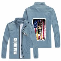 Men's Jackets 2021 Printed Dog Jacket Brand Fashion Denim Off- Motorcycle Windbreaker Street Hip-hop Clothing