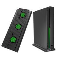 المشجعين الكهربائية الوقوف العمودي مع مروحة تبريد ل Xbox One X، حامل وحدة التحكم برودة 3 منافذ USB X
