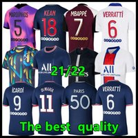 Maillot Paris Jersey 2021 2022 Fussball Jerseys Mbappe Icardi Verratti Pre-Match-Trainings-Trainingsanzug 18 19 20 21 22 Herren + Kinder-Fußball-Hemd