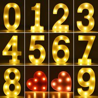 Alphabet Letter LED Lights Luminous Number Lamp Battery Night Light for Home Wedding Proposal Birthday Christmas Party Holiday Decoration U to Z, 1 to 9