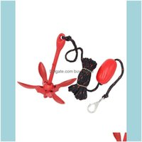 Fishing Sports & Outdoorsfishing Aessories Folding Anchor Buoy Kit Portable Complete Grapnel System For Canoe Kayak Raft Boat Sailboats Drop