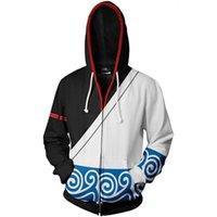 Designer Hoodie 2021 Осень зима 3D Печатные аниме Гинтама Мужчины Женщины Толстовка Мода Косплей на молнии Уличная одежда Куртка