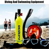 Máscaras de mergulho Mini Scuba 1L Tanque e Máscara de Mergulho Combinação Respiração Livre Subaquática para 20 minutos Kit de natação Caixa de respirador