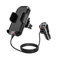A20 Pro Car Ladegerät Dual USB MP3 Player Bluetooth Receiver FM Sender Anruf Freisprecheinrichtung