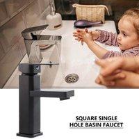 Fissaggio della vernice quadrata Rubinetto Set di rubinetto Lavandino rubinetto Bagno Bagno rubinetti caldi miscelatore a freddo Tap Tap Single Hole Cucina Articoli da cucina