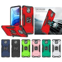 Heavy Duty Hybrid 360 Rotating Ring Stand Military Grade Magnetic Cases For MOTO G7 G8 Power Lite G9 Play G Stylus 2021 One 5G ACE Fusion Fast E7