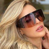 여성을위한 디자인 선글라스 패션 태양 안경 자외선 보호 큰 연결 렌즈 프레임리스 최고 품질 패키지 888