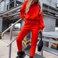 Women's Two Piece Pants Ladies Hooded Pullover Sweatshirt And Sweatpants Tow Set Casual Sets Sportswear Elegant Solid For Women Outfits
