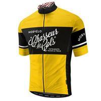 Yaz Morvelo Takım Bisiklet Jersey Erkek Kısa Kollu MTB Gömlek Dağ Bisiklet Giyim Maillot Ropa Ciclismo Yarış Bisiklet Giysileri Y21052705