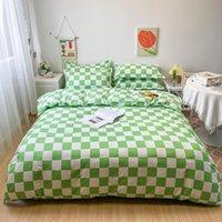 침구 세트 현대 기하학 세트 격자 무늬 침대 촬영 부드러운 bedcolthes 단일 더블 킹 사이즈 220x240 침실 없음 Fills Doubet Cover