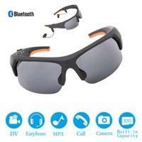 2021 HD 1080p 32GB Lente polarizada Mini Gafas de sol Cámara Multifuncional Bluetooth MP3 Player Sports DV Video Grabador de video