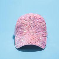 소녀 힙합 모자 모조 다이아몬드 럭셔리 진주 장식 조각 야구 모자 여름 코튼 모자
