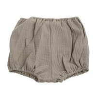 Shorts H05C Summer Kids Boys Solid Color Baby Girl Cotton Linen Bread Short Pants Fashion Born Bloomers 0-18Months