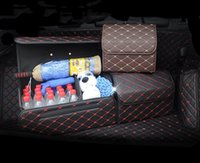 Car Organizer Trunk Box Storage Bag Auto Trash Tool PU Leather Folding Large Cargo Stowing Tidying Accessories