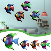 Wall Stickers Sculptures Fish Hanging Art Metal Decoration Creative Unique Handicraft Home Pendant Ornament Decor