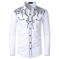 high quality blouse shirts chemisier men' s summer lapel...