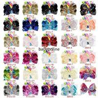 8 pouces Jojo Siwa Cheveux Bows Jojo Bows avec clip pour bébé Enfants Grands Pequins Bow Licorne Cheveux Bows Fy4294