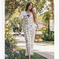 Kleider für den Strand Swimwear Cover Up Badeanzug Cover UPS Summer Beach Kleid Coverups Frauen Tunikern Pareos de Playa Mujer