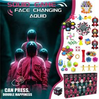 Squid Game Push Bubble Blind Box Antistress Fidget Toys Christmas Advent Countdown Calendar Toy Gift Boxes