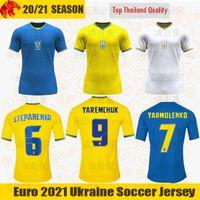 اليورو 2021 أوكرانيا لكرة القدم جيرسي ستيبانينكو 21 22 YARMOLENKO MALINOVSKYI YAREMCHUK SHAPARENKO TSYGANKOV زينتشينكو BEZUS كرة القدم قميص