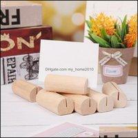 Der Desk Aessories Supplies Office School Business & Industrialcard Holders Memo Clip Holder Wood Desktop Organizers Po Note Rack Stand Brac