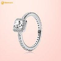 Danturn New 925 стерлингового серебра стерлингового кольца площадью Halo Rings оригинальный бренд 925 серебро европейские кольца женщины DIY ювелирные изделия