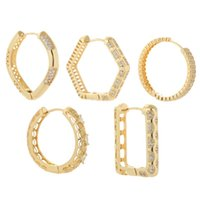 Hoop & Huggie Round Circle Earrings For Women 2021 Ear Rings Female Minimalist Simple Korean Fashion Pierce Copper