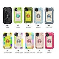Magnetic Metal Ring Holder Stand Defender Cases For Iphone 12 mini 11 Pro Max XR XS 6 7 8 plus 3 in 1 Armor Soft Silicone Hard PC Shockproof Cover