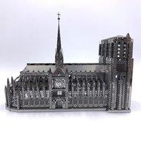 IRON STAR 3D metal puzzle Notre-Dame de Paris model Assembly Model DIY 3D Laser Cut Model puzzle toys for adult Y200413