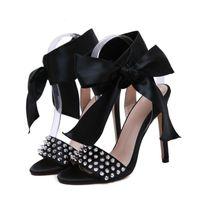 Sandálias Ddyzhy Mulheres Stiletto High High Heel Shoes Sandalias Mujer 2021 Strap Ankle Envoltório Sexy Bombilhas Vestido De Festa Size42