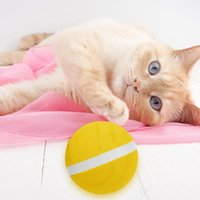 Cat Toys Automatic Magic Roller Ball Launcher Pet Waterproof Jumping USB LED Rolling Flash Balls Fun Electric Dog Kids Gift