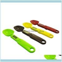 أشتات المنزلية المنزلية حديقة موازين قياس الملاعق مع أدوات الطبخ المطبخ سبيكة مقياس رقمي LCD 500 جرام 0.1 جرام قطرة