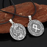 Pendant Necklaces Nordic Viking Rune Amulet Necklace Jewelry With Valknut Gift Bag