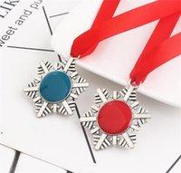 Creative Christmas Key Gesp Sneeuwvlok Lint Magic Sleutelhanger Zinklegering Santa Claus Gift Ornamenten Xmas Tree Hanging Pendent DWA7491