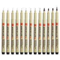 Pigment Liner Micron Pen Set Neelde Desenho Pen Lot 005 01 02 03 04 05 08 1.0 Pincel Marcadores de Arte Fineliner S Jllqjr