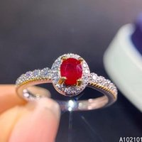 Cluster Rings KJJEAXCMY Fine Jewelry S925 Sterling Silver Inlaid Natural Ruby Girl Classic Adjustable Ring Support Test Chinese Style