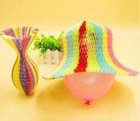 Cappelli da festa 100pcs Magic Vase Carta Handmade Pieghevole Cappello Pieghevole per decorazioni Divertenti Caps Viaggi Sun colorato