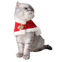 Cat Costumes Pet Christmas Clothes European & American Christmas& Year Cloaks Party Supplies Cats Warm Red Kitten Accessories