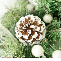 Рождественские благодарения, стекающие сосны сосны Гинкго декоративный венок праздник дома окно венок дверь висит рождество, чем Qylapx
