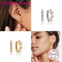 Hoop Huggie Aide 925 sterling argento quadrato mini orecchini orecchini per le donne gioielli orecchino aretes de mujer pendientes