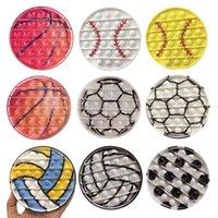 USA Sport sportivi Baseball Push Silicio giocattolo giocattolo cella cellulare cinghie sensoriali bolle semplici Dimples Fidget Board Bambini Focus giocattoli Adulti decompressione ct10