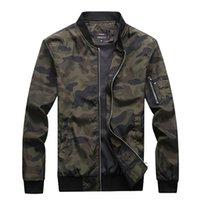 Giacche da uomo New Autunno Giacche da uomo Camouflage Cappotti maschili Camo Bomber Giacca Mens Brand Abbigliamento Outwear Plus Size