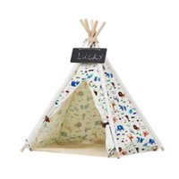 Dog Houses & Kennels Accessories Supplies Folding Pet House Washable Tent Puppy Cat Bed Indoor Outdoor Home Playing Teepee Tipi Portable