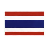 태국 플래그 3x5 FT 발 태국 국기 플래그 배너 90 * 150cm 황동 그로멧 홈 정원 벽 보트 장식