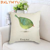 Cushion Decorative Pillow Nordic Art Loney Bird Cushion Cover Watercolor Animal Covers Cases Decorative Bedroom Sofa Decor