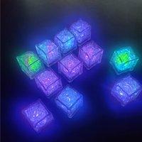 야간 조명 LED 아이스 큐브 바 빠른 느린 플래시 자동 변경 크리스탈 큐브 물 - 활성화 된 조명 7 색 낭만적 인 파티 웨딩 크리스마스 선물 미국 주식