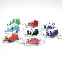 الجدة 3d مصغرة قماش حذاء رياضة سلسلة المفاتيح حلقة مفتاح سلسلة حامل حقيبة يد قلادة تفضل
