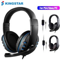 Headphones & Earphones KINGSTAR Gaming Headset Stereo Surround Headphone With Microphone 3.5mm Wired Headsets For Ps4 Laptop Xbox One PC Com