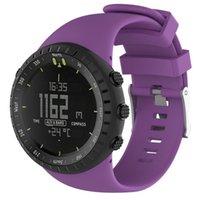 Susenstone Watchband Watch Strap سيليكون ل Suunto Core Saat Kordonu Silikon Correa Reloj PS0439
