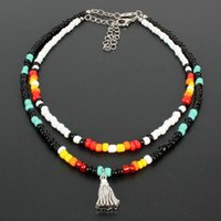 Outer banks beach shell choker necklaces for women multicolor starfish Seed Bohemian beads hawaiian necklace summer
